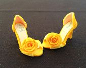 handmade collectable miniature shoes by YinyingO on Etsy