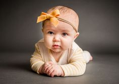 Baby girl with yellow bow holding her hands while a string of drool falls from her chin One Big Happy Photo Happy Photos, 3 Month Olds, Babies First Christmas, New Parents, Amber, Baby Kids, Hands, Bows, Yellow