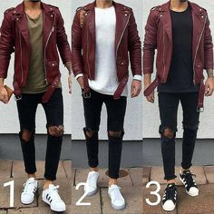 Royal Fashionsit is the best Men's Fashion Guide. Here you will find the latest trends on men's style. Get inspired with these outfits and leave your comment below. Stylish Mens Fashion, Best Mens Fashion, Fashion Moda, Men's Fashion, Fashion Guide, High Street Fashion, Rugged Style, Mode Man, Leather Jacket Outfits