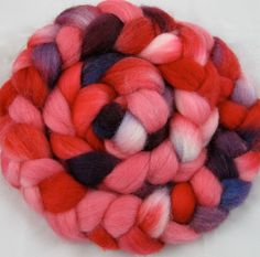 Falklands Hand Painted Wool Roving Valentine by chimera on Etsy