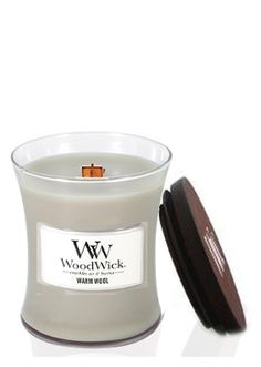 Woodwick Warm Wool Medium Jar Candle Wood Wick Candles, Scented Candles, Candles Online, Home Scents, Jar Candle, Cozy Cabin, Brand Names, Decor Styles, Warm