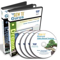 Adobe Dreamweaver CS5 & Photoshop Elements 9 Tutorial Training 34 hrs on 4 DVDs #HowToGurus