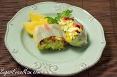 Avocado Egg Salad Spring Rolls