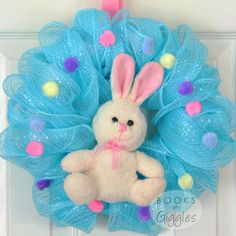 How to make a simple Easter Bunny wreath - full tutorial. Most of the materials came from the dollar store! A sweet decorations for kids. Easter Activities, Easter Crafts For Kids, Diy For Kids, Easter Ideas, Easter Decor, Easter Stuff, Preschool Ideas, Preschool Crafts, Learning Activities