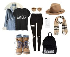 """""""Untitled #161"""" by evana29 ❤ liked on Polyvore featuring Topshop, Moschino, Yves Saint Laurent, rag & bone and Burberry"""
