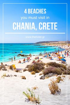 Discover the top 4 #beaches in Chania, Crete and have an unforgettable #vacation! Photo of Elafonisi beach! #crete #chania #greece #holidays #travel #sand #sea #beach #TheHotelgr