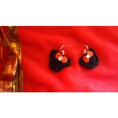 Crochet Mickey Mouse    earrings - Online Shopping for Earrings by Crochet for Charity