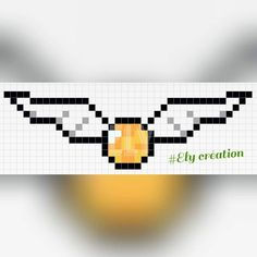 Golden Snitch - Harry Potter perler bead pattern - hamaperlerely