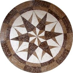 MD095 Marble Mosaic Medallion Tile