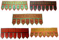 10 Home Decorative Elephant Toran Embroidered Door Hanging Wholesale Lots
