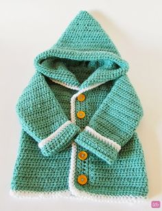 Little Things Blogged: {Crochet Baby Cardigan} free pattern