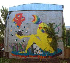 Street art in Canada by Spanish street artist Gola Hundun #urbanstreetartists #graffitiart #urbanart #art #streetart #urbanartist #graffiti