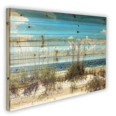 'Sand Dunes' Photographic Print on Wood - Strandhaus Painting On Wood, Painting Prints, Canvas Prints, Art On Wood, Paintings, Cool Ideas, Beach Signs, Beach House Decor, Beach Houses