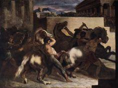 Theodore Gericault, Riderless Horse Races, 1817, olio su tela, 45 cm x 60 cm