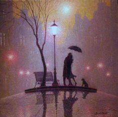 Denis Nolet 1964 - Canadian Figurative painter - Night Tango in Paris (33) (700x696, 60Kb)