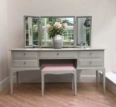 Upholstery Fabric For Chairs Refferal: 3144473826 Dressing Table Modern, Shabby Chic Dressing Table, Furniture Dressing Table, Dressing Table With Chair, Bedroom Dressing Table, Dressing Table Design, Dressing Table Mirror, Stag Furniture, Pastel Furniture