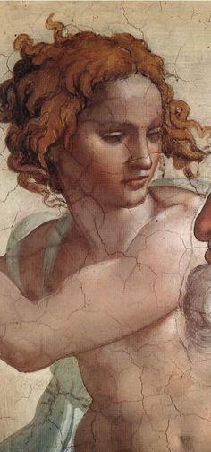 Sistine Chapel detail. 1510. Michelangelo Buonarroti
