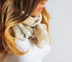 Long Beige Scarf scarves extra long scarf  beige scarf by selenayy
