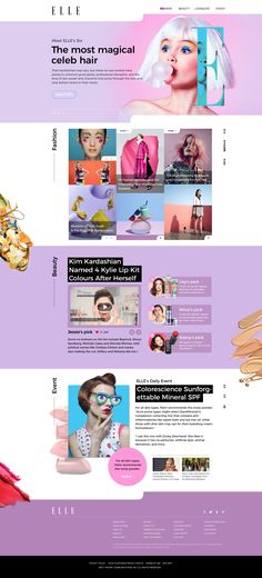 ELLE Website renewal design