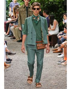 Milan Men's Fashion Week Spring 2013 Trends - Colors of the Rainbow: Fashion Shows: GQ