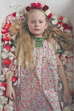 Maija wearing dress by Polarn O. Pyret. Little Women – RAWR Magazine