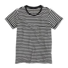 A classic striped tee. This could work under a blazer, denim jacket, field jacket--whatever! Simple and stylish--every traveler should pack one.