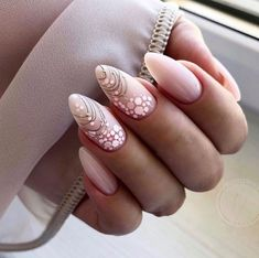 Installation of acrylic or gel nails - My Nails Manicure Nail Designs, Nail Manicure, Nail Art Designs, Nail Polish, Beige Nails, Pink Nails, My Nails, Stylish Nails, Trendy Nails