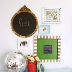 3M command strips, a DIY frame + a freebie printable