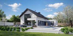 Projekt domu HomeKONCEPT-03 | HomeKONCEPT Barn House Design, Bungalow House Design, Modern House Design, Home Design, House Layout Plans, Modern House Plans, House Layouts, Modern Bungalow Exterior, My Ideal Home