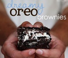 Dreamy Oreo Brownies. Reminds me Cheesecake Factory's extreme Oreo cheesecake... So yes please. Love Shelly and cookies and cups. Made twice. The second time I doubled the cream cheese. halved the cool whip and used a dark chocolate fudgy mix. also only used 1 C chocolate chips