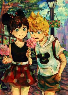 !! Happy RokuShi Day everyone!! Just a little date at the Happiest Place on Earth~ ★~(◡ω◕✿)