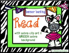 #readbuntingbanner #zebrathemeclassroom #readingcenter #classroomlibrary  #teacherspayteachers #TpT