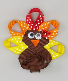 Brown & Yellow Give Thanks Turkey Clip