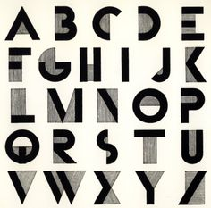 Bifur Font   Adolphe Mouron Cassandre   /1929