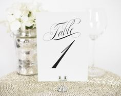 Classic Vintage Table Numbers - Table Numbers by Shine