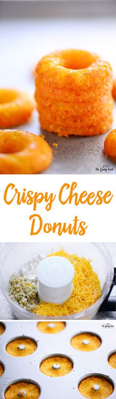 Crispy Cheese Donuts are fun snack that everyone will love. These cheesy rings are chewy, crispy and easy to make with cheddar cheese and quinoa.