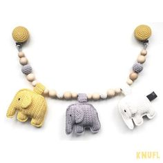 Stroller toy with elephants by KNUFL on Etsy