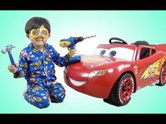 New Disney Cars 3 Lightning McQueen 6V Battery-Powered Ride On Test Drive Park Playtime - YouTube