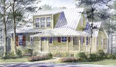 """Cute cottage called """"Twitching Minnow"""" (every fisherman's dream getaway!)  Plan #1376"""