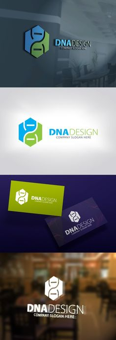 DNA Design Logo. Human Icons. $28.00