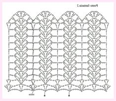 Diy Crafts - Crochet ideas that love Filet Crochet, Crochet Motifs, Crochet Borders, Crochet Diagram, Crochet Stitches Patterns, Crochet Chart, Crochet Doilies, Crochet Lace, Tunisian Crochet
