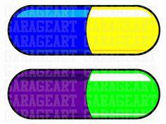 Pildoras pill vector art de Garageartdesign en Etsy