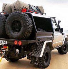 Chopped and Tray Backed 60 Series Toyota Land Cruiser Ready For An Extended Holiday Toyota Hilux 4x4, Toyota Trucks, 4x4 Trucks, Cool Trucks, Truck Flatbeds, Truck Mods, Truck Camper, Toyota Land Cruiser, Offroad