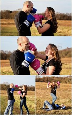 Haha cute gender reveal!