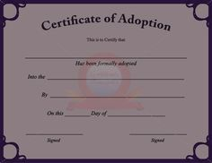 Novelty Birth Certificate Template 7 - Best Templates Ideas For You Birth Certificate Template, Adoption Certificate, Printable Certificates, Certificate Border, Award Certificates, Adoption Papers, Health Essay, Statement Template, Places