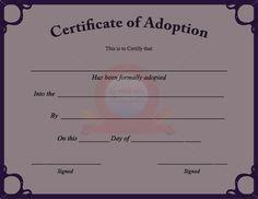 fake adoption certificate