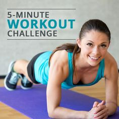 "You may be wondering if you can really accomplish much with a 5-minute workout. The answer is ""Yes!""  #5minuteworkout #workout #challenge"