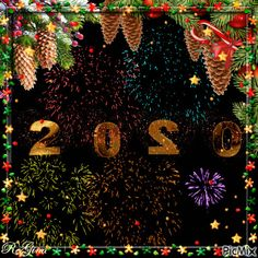 Wishing you a Happy and Blessed New Year 2020 Happy New Year Gif, Happy New Year Wallpaper, Happy New Year Message, Happy New Years Eve, Holiday Wallpaper, Christmas Tree With Gifts, Christmas And New Year, Xmas, Friendship Wishes