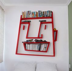 Face bookshelf by Alexi McCarthy