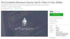Coupon udemy barefoot wines co founders 3 ways to cut costs in coupon udemy the complete ethereum course get 01 ether in your wallet 10 malvernweather Image collections
